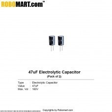 47µF 160v Electrolytic Capacitor (Pack of 2)