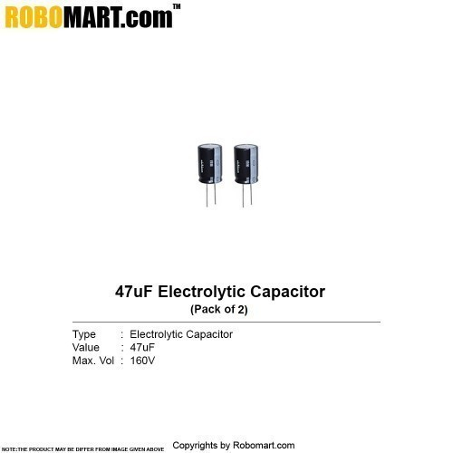 47µf 160v electrolytic capacitor