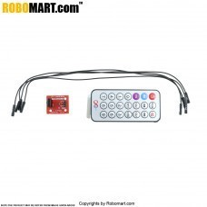 Infrared Remote Control MCU Module with Receiver Head HX1838 & NEC Coded Infrared Remote Control