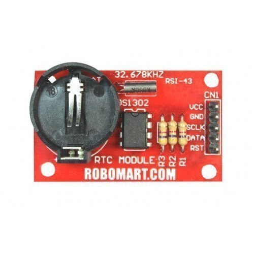 Real-Time Clock Module DS1302 with Battery  for Arduino