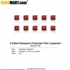 22000pf 2Amp (223) Polyester Film Capacitors (Pack of 10)