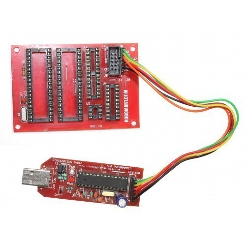 AVR Multi Controller Programming Board With AVR Programmer