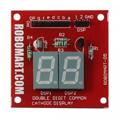 Double Digit Common Cathode Seven Segment Display