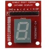 Single Digit Common Cathode Seven Segment Display for Arduino/Raspberry-Pi/Robotics