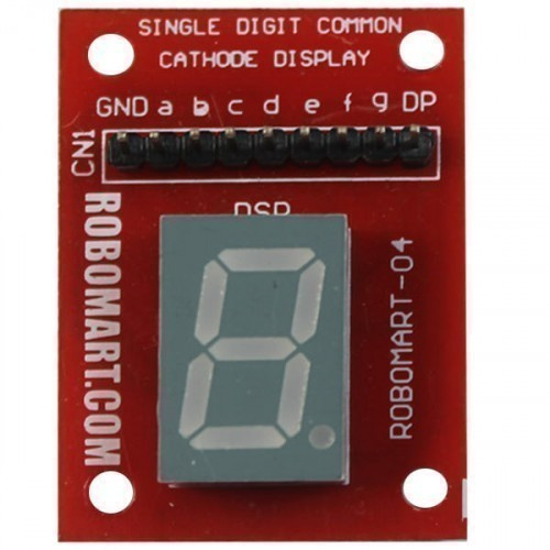 Single Digit Common Cathode Seven Segment Display