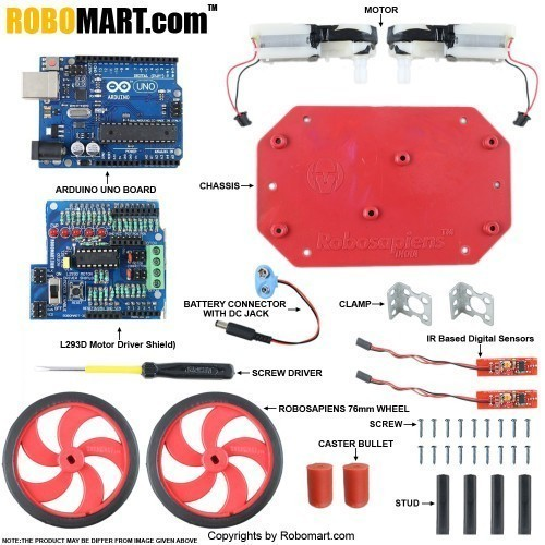 Buy Line Follower Kit Using Arduino Uno - Robomart