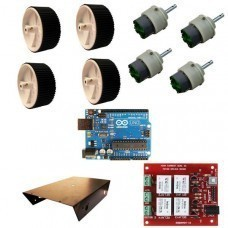 4 Wheel Robotic Platform with Arduino Uno and High Current Dual DC Motor Driver Board