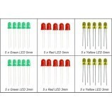 Multi Colour & Size LED Pack