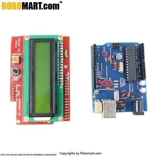 Arduino LCD Shield with Robomart Arduino Board
