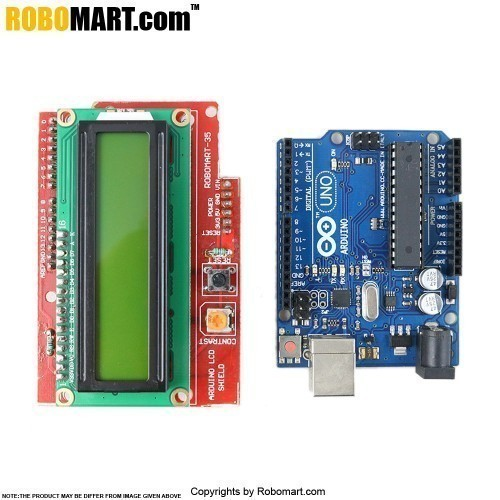 Arduino LCD Shield with  Arduino UNO