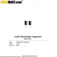 2.2µF 350v Electrolytic Capacitor (Pack of 2)
