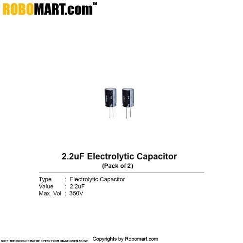 2.2µf 350v electrolytic capacitor