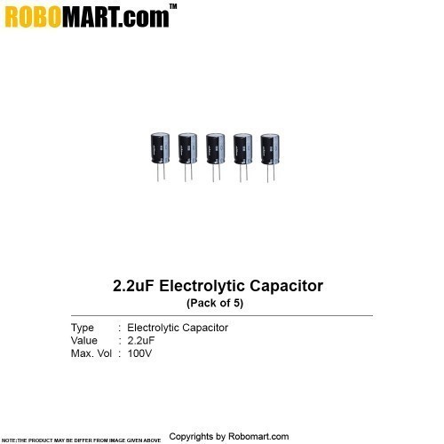 2.2uf 100v electrolytic capacitor