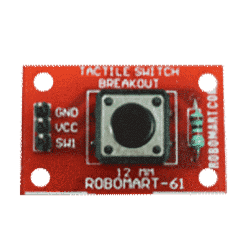 12 mm tactile switch breakout