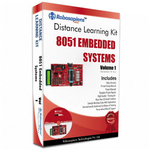 7 Days 8051 Embedded Systems Distance Learning Kit