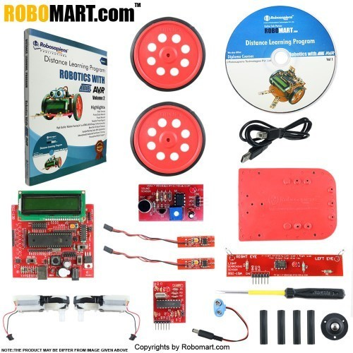 7 Days Robotics with ATMEL AVR Distance Learning Kit