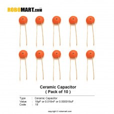 18pF/ Ceramic Capacitor(Pack of 10)