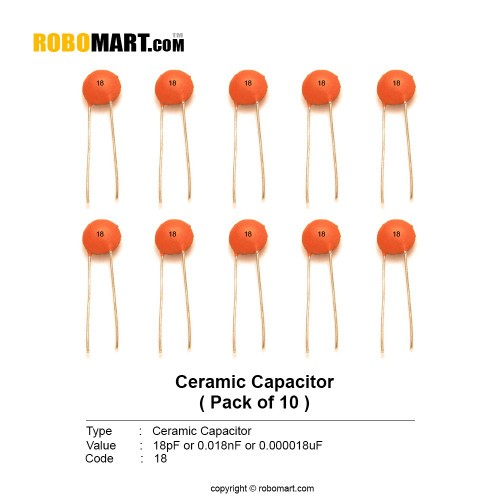 18pf ceramic capacitor