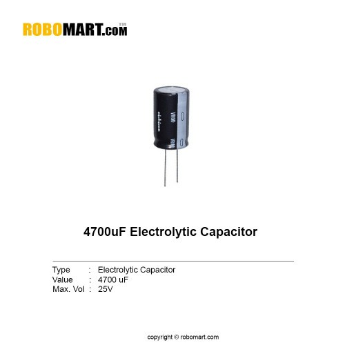 4700uf 25v electrolytic capacitor