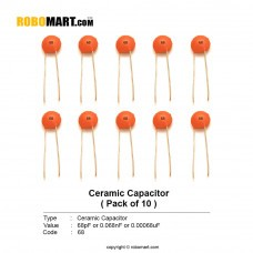68pF Ceramic Capacitor (Pack of 10)