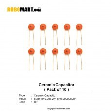 8.2pF Ceramic Capacitor (Pack of 10)