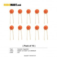 820pF Ceramic Capacitor (Pack of 10)