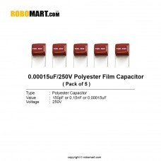151pF/250 Volt Polyester Film Capacitor (Pack of 5)