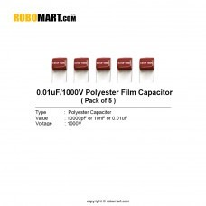 0.01uF 1000v Polyester Film Capacitor (Pack of 5)