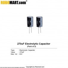 270µF 63v Electrolytic Capacitor (Pack of 2)