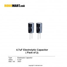 4.7µF 350v Electrolytic Capacitor (Pack of 2)