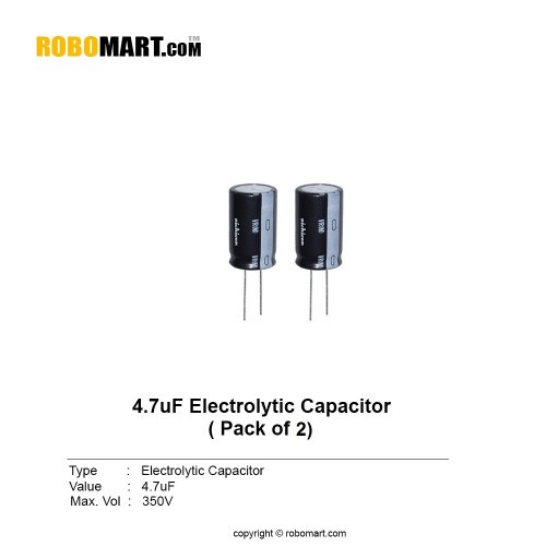 4.7µf 350v electrolytic capacitor