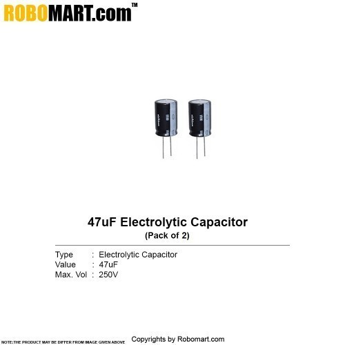 47µf 250v electrolytic capacitor