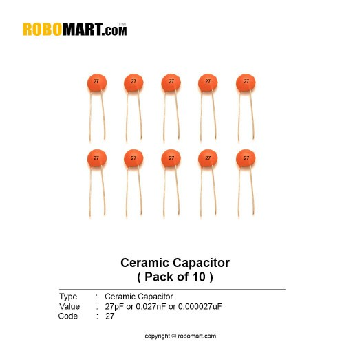 27pf ceramic capacitor