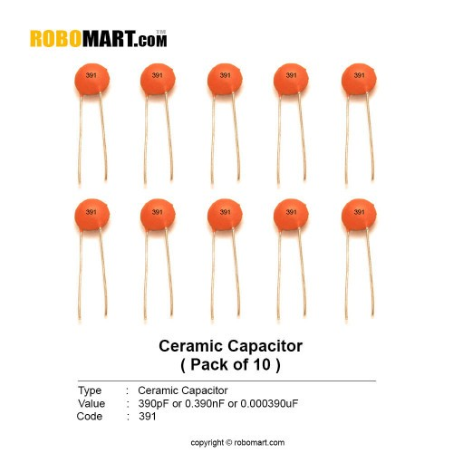 390pf ceramic capacitor