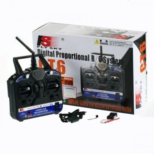 FlySky 2 4 Ghz 6 Channel Digital Proportional RC Transmitter and Receiver  For Quadcopter - Robomart