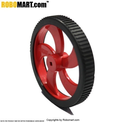 Tyre For BO Motor, iMechanzo And Square Shaft Hole for Arduino/Raspberry-Pi/Robotics