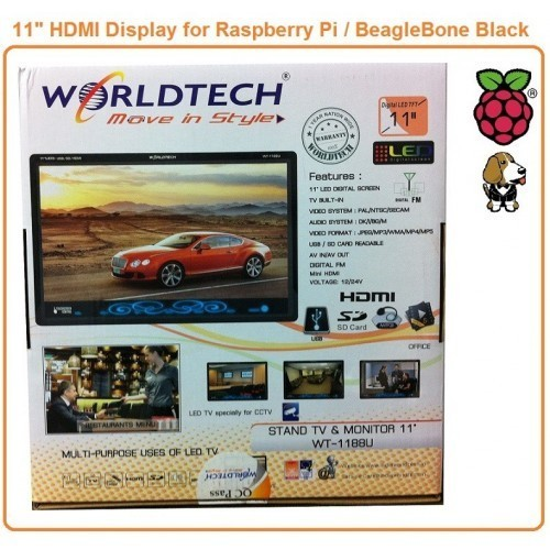 "11"" LED HDMI Display for Raspberry Pi"