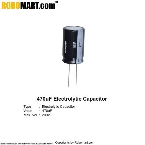470uf 200v electrolytic capacitor