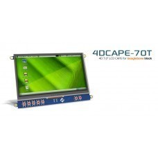 "7"" LCD Touch Display Cape for BeagleBone Black by 4D Systems"