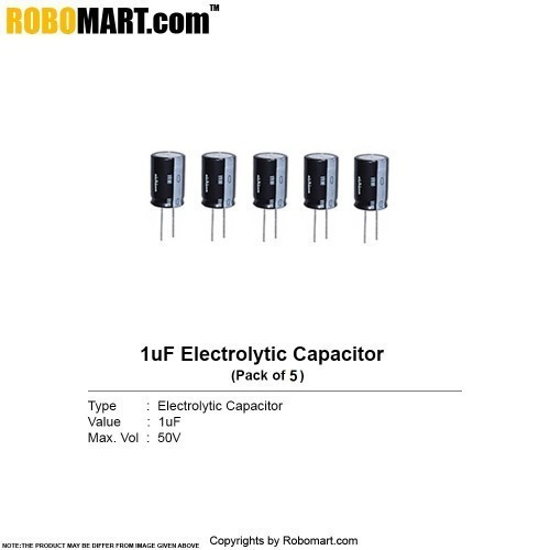 1µf 50v electrolytic capacitor