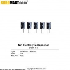 1µF 400v Electrolytic Capacitor (Pack of 5)