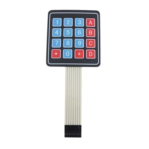 Matrix keyboard key membrane switch keypad