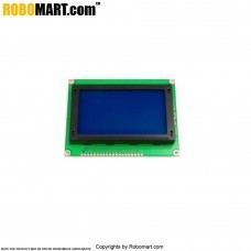 128X64 Graphical Blue LCD Display for Arduino/Raspberry-Pi/Robotics