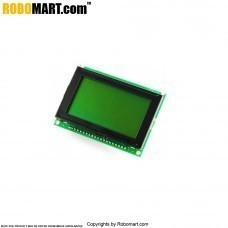 128X64 Graphical Green LCD Display for Arduino/Raspberry-Pi/Robotics