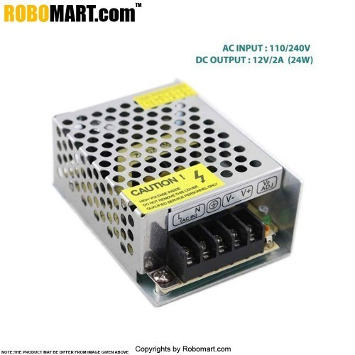 Buy Online 12V/2A (25W) Metal Housing Switching Mode Power Supply ...