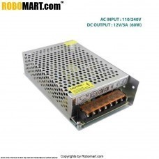 AC 110/240V DC 12V/5A (60W) Metal Housing Switching Mode Power Supply For Robotics