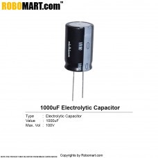 1000uF 100v Electrolytic Capacitor (Pack of 2)