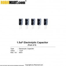 1.5uF 400v Electrolytic Capacitor (Pack of 5)