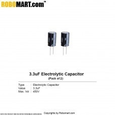 3.3µF 450v Electrolytic Capacitor (Pack of 2)