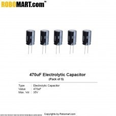 470µF 35v Electrolytic Capacitor (Pack of 5)